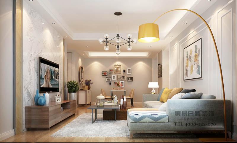临沂天基黄金水岸装修设计方案在整体设计以利落线条贯穿,打造出整体空间质感。通过软装色彩的搭配,点缀出稳重色系为主的居家空间。