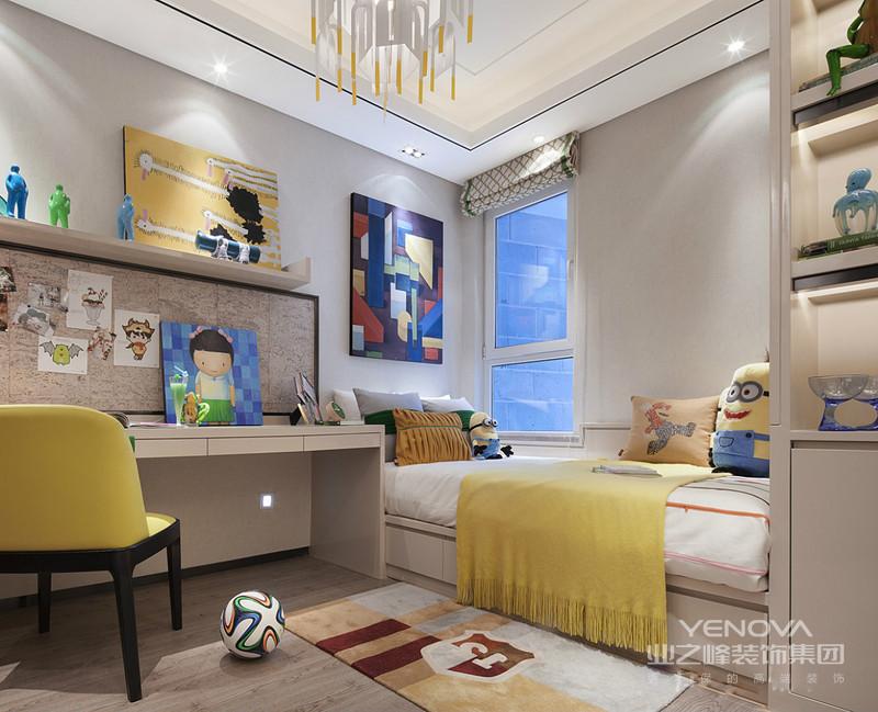 卧室的装修设计花费了不少心思,床头墙面、窗帘,带来时尚而个性的品位感。