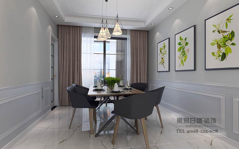 纯净的白色+现代感十足的灰色伴蓝调色 简约分明、干净清澈。