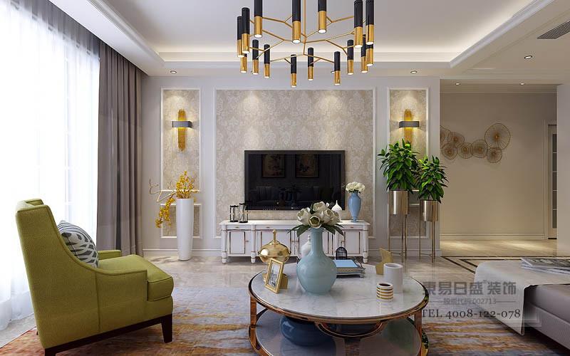 电视墙大面积的白色延展至餐厅,使空间显得干脆利落,更加规整有情调;黑色的镜电视机,与干净的白色对比装饰,空间在整体的黑白灰色调中,诠释现代时尚设计。