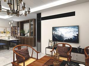 迎泽区-化纤公寓三居室 132㎡ 新中式风格