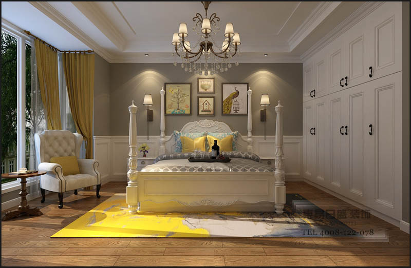 4.同时灰色调能够有效地调节空间氛围,收拢黄色带来的浮躁气息。