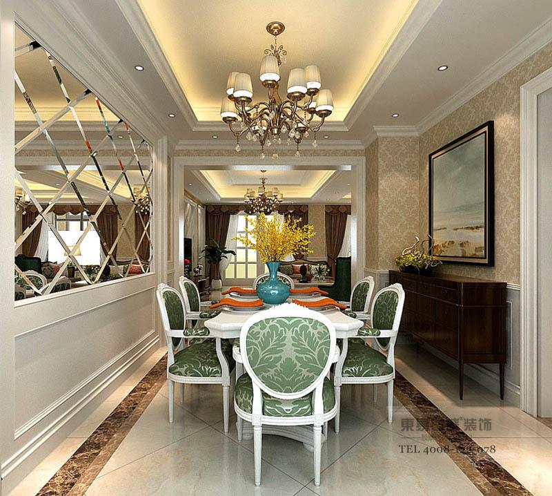 临沂香槟城别墅装修现代风格餐厅