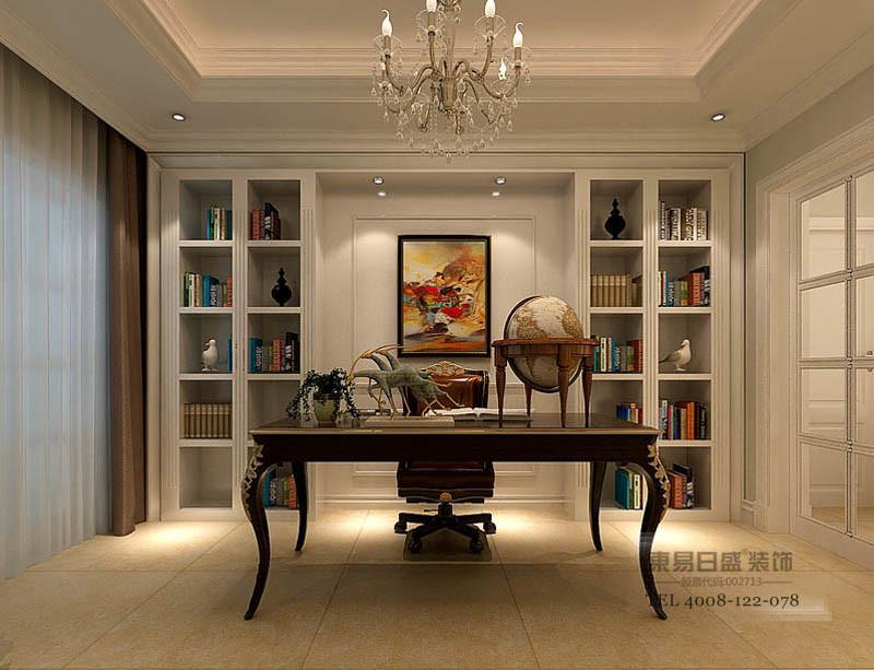 临沂香槟城别墅装修现代风格书房
