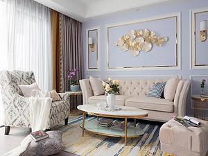 135㎡轻奢美式3室,让生活如诗般浪漫有情调