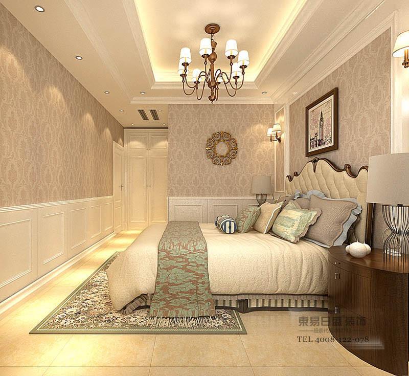 临沂香槟城别墅装修现代风格卧室