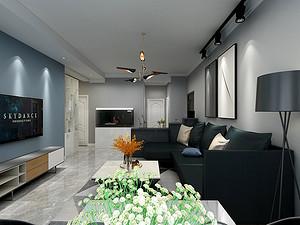 金泰园三居室 132㎡ 后现代风格