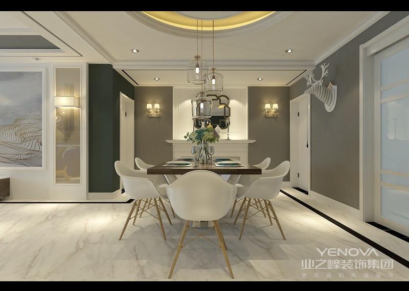 餐厅简洁而凝练,规整的设计并没有给视觉造成疲劳,反而,正是因为这份简单的设计让就餐也变得轻松起来;