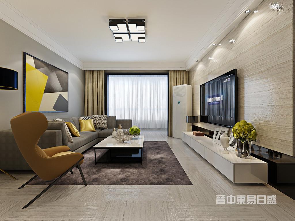 客厅区域我们运用留白的处理,搭配具有线条感的石材,沙发背景用线面构成的平面装饰画,刻画出简约利落的点线面设计,展现细节的呈现凸显出形式的美!现代的设计造型简约反对多余装饰手法,崇尚合理的构成工艺,尊重材质本身的特性,材质的多元呼应 在装饰与布置中最大限度的体现空间与家具的整体协调,通过对比,韵律,比例与稳重的沙发形成一种动静结合的艺术感!