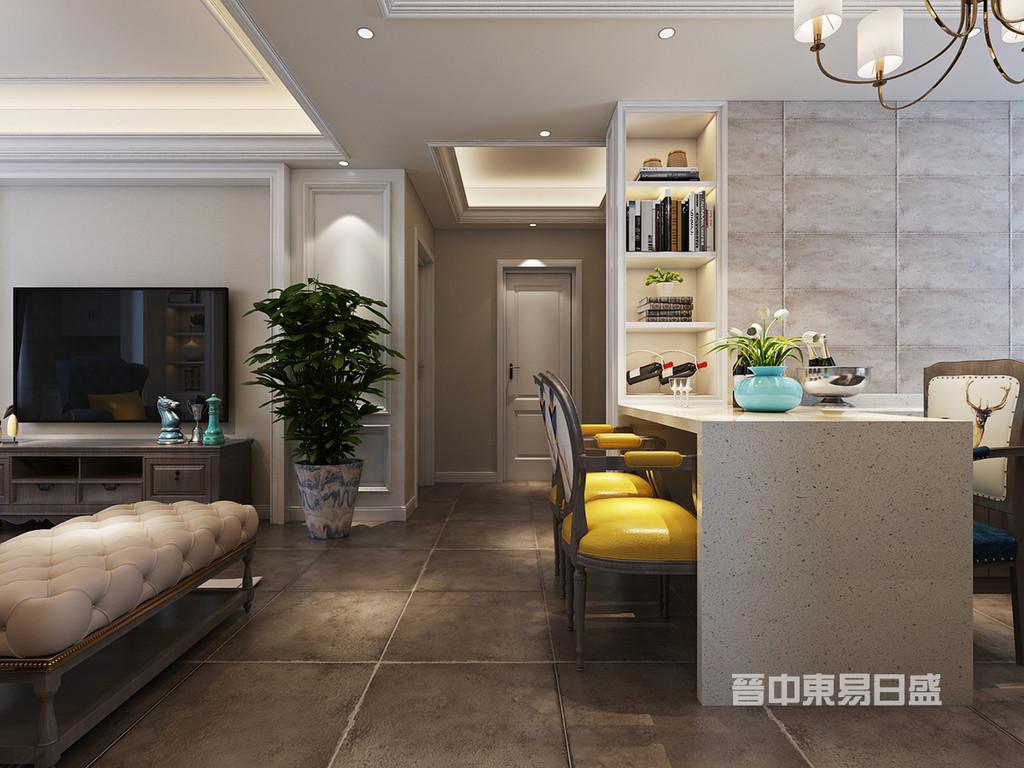 餐厅:餐厅设计在家庭装修中变得越来越重要,能有一间温馨舒适的餐厅,会使用餐变得更加美好。定制酒柜与餐桌的结合,增加用餐的情调,细想,坐在装修一新的温暖空间,与家人同享美食、美酒,该是多么细腻享受的贴心时刻。从优雅走向自然。优雅是一种和谐,非常类似于美丽,只不过美丽是上天的恩赐,而优雅是艺术的产物。