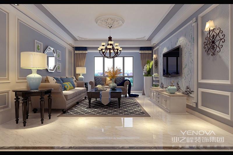 长长的沙发,供全家人坐在一起看电视;玫瑰金色的小装饰和茶几边,格外的雅致,让全家人觉得仿佛置身于私人影院。