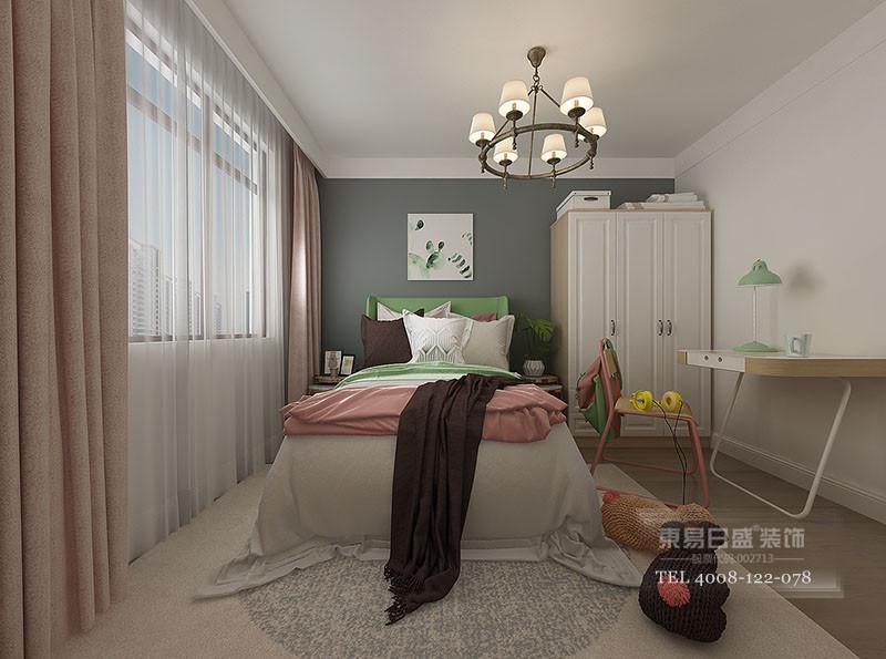 临沂华润书香府现代风格女儿卧室装修效果图
