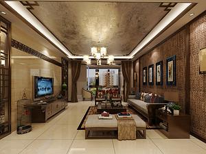 万吉小区三居室 138㎡新中式风格