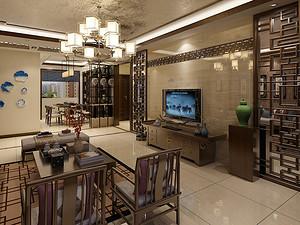万吉小区三居室 138㎡ 新中式风格