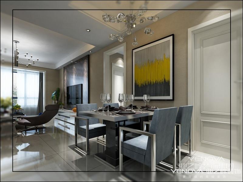 其次地面设计手法趋于简单,不采用拼花,而是简单的铺贴手法,让地面更干净。再次墙面采用饰面板的设计手法会突出时尚与奢华感。