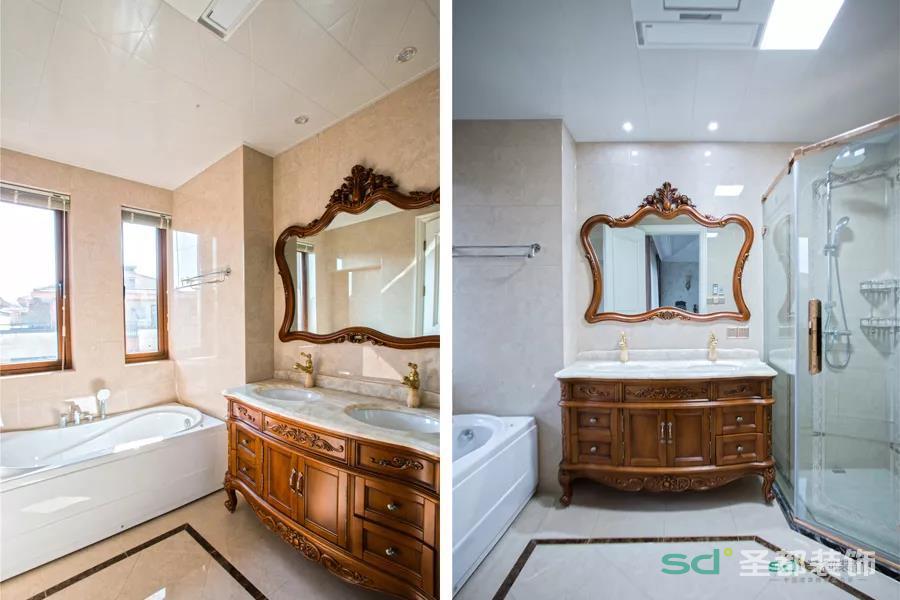 壁龛设计,双台盆设计,处处体现实用度。