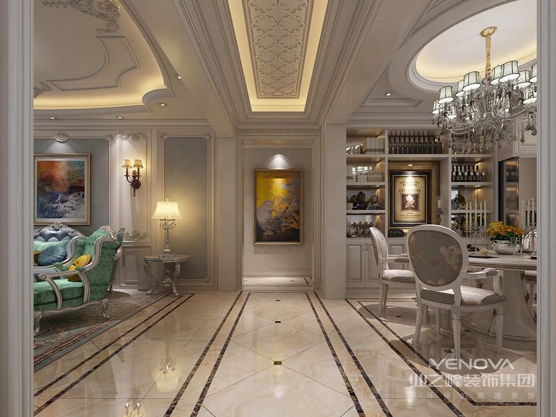 用于背景墙的营造,演绎出富丽、浪漫的空间氛围。