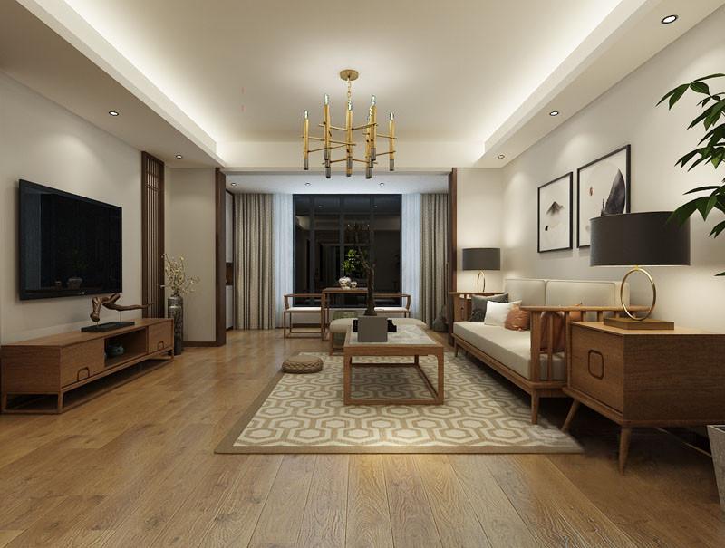 客厅空间格调从容悠远,明清造型的家具简洁舒朗,搭配着书画、格栅、木雕等传统韵味元素,愈加凸显空间的宁静古朴;宽敞的阳台上,设计师用两把座椅配一茶几,于平淡祥和中,呈现安逸闲雅内敛禅意。