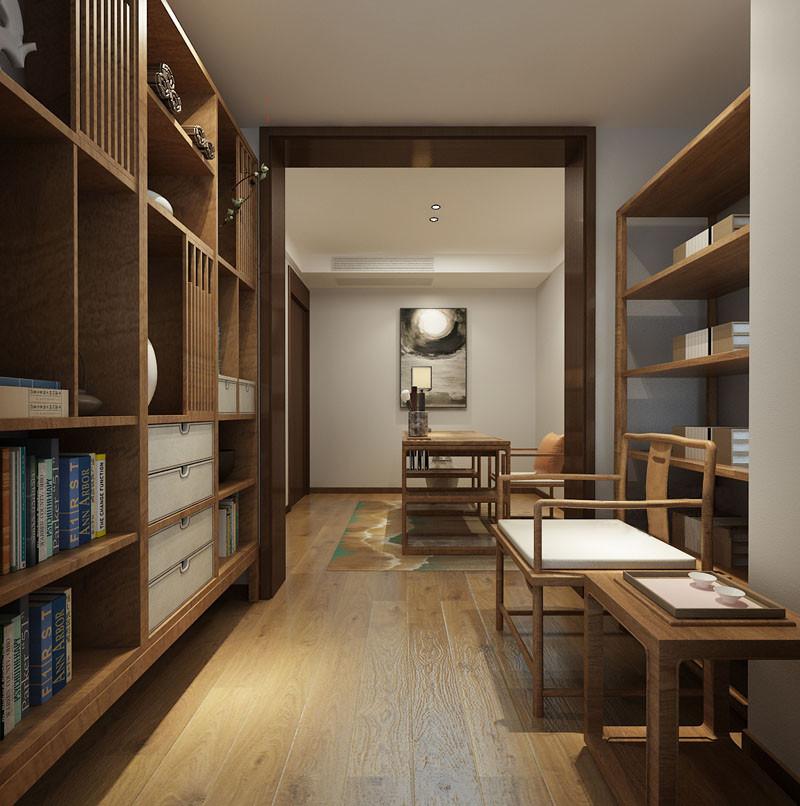 书房内外相通,但又各司其职;外侧主要用于日常办公,书桌椅造型简约,装饰画和地毯图案丰盈,且颇有几分蓬勃野趣,为空间带入静幽洒脱;里侧则为书室,高低错落的书架上书籍琳琅,浓郁的文化底蕴不动声色的诠释淋漓。