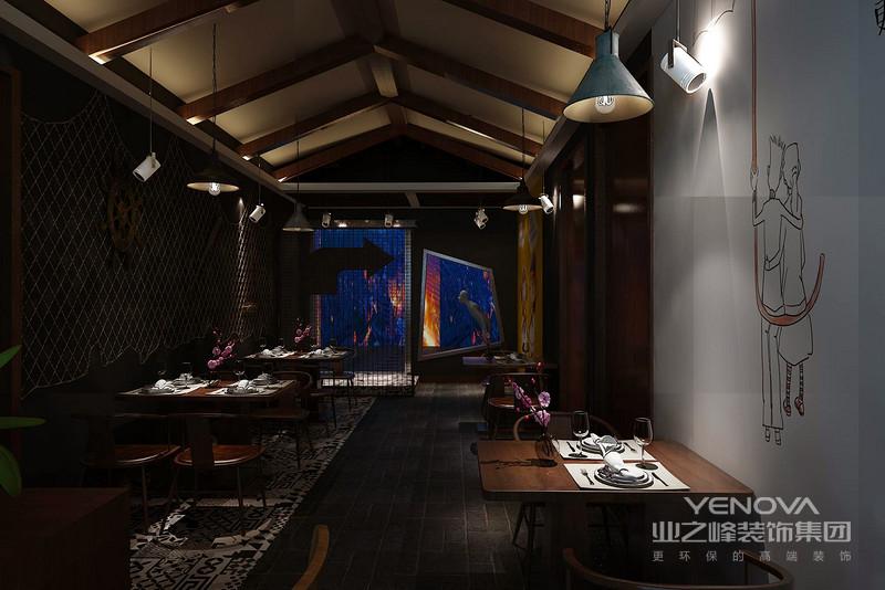 餐厅内部以四人一张桌子布置,既不那么拥挤,也想的抒情惬意。