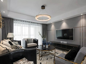 143㎡轻奢美式4室2厅,高级灰营造优雅时尚感