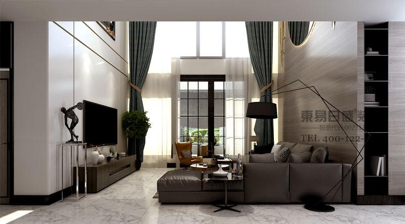 现代别墅客厅效果图