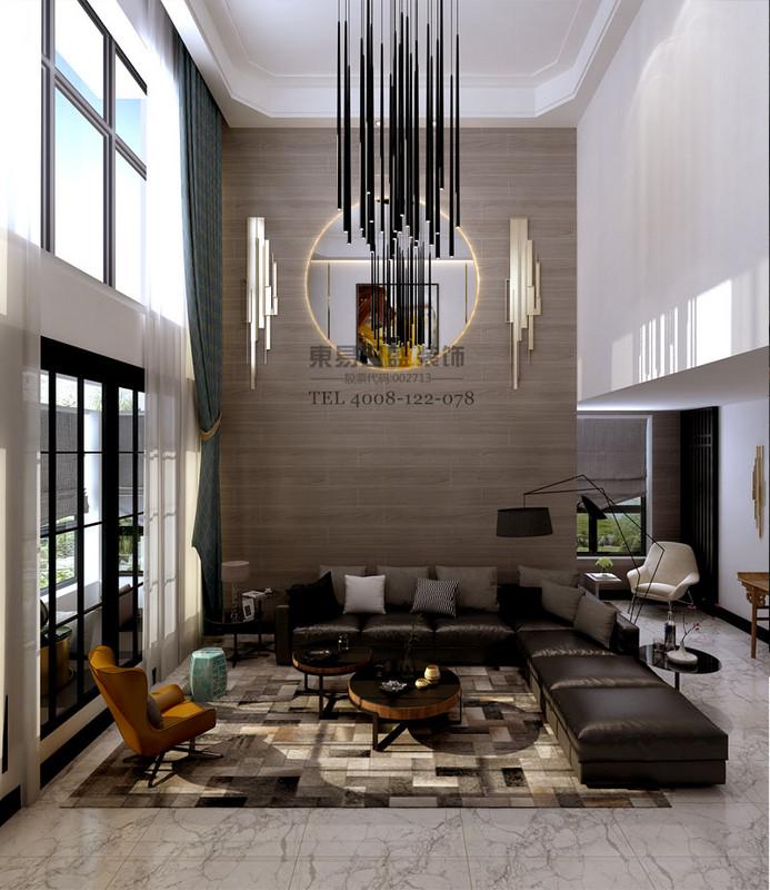 别墅客厅简约风格效果图