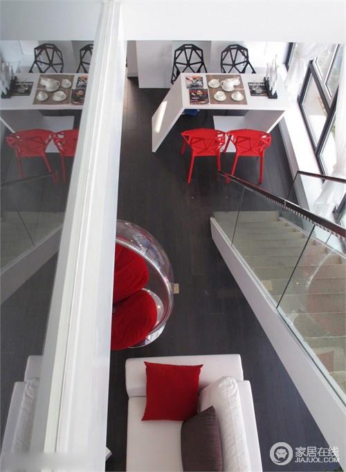 实拍76平loft样板房 白色时尚简约风
