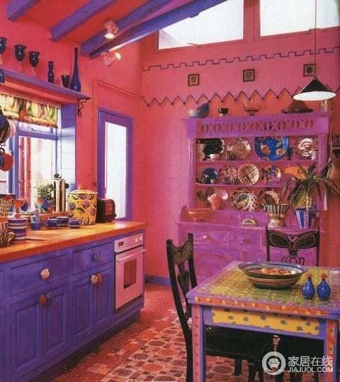 BOHO风格厨房餐厅装修案例 纯真随性