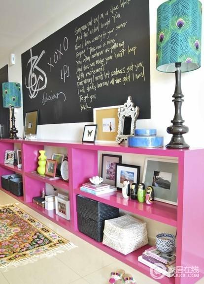 明艳有活力的家居设计 娇艳粉红色家