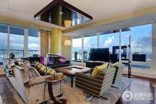 超美的全景式公寓 卫浴瓷砖铺装奢华