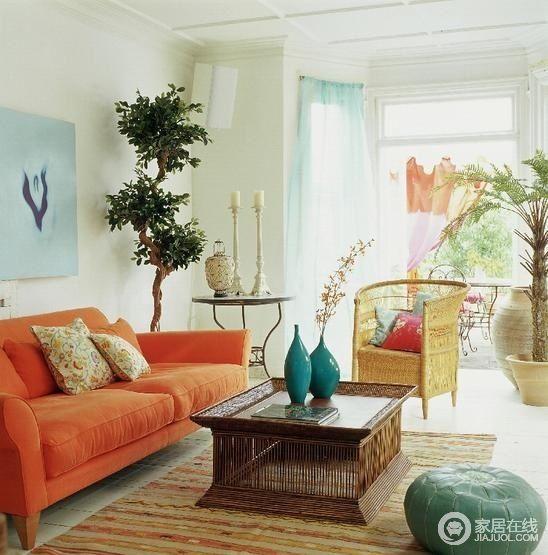 17款波西米亚风格客厅 色彩浓烈浪漫