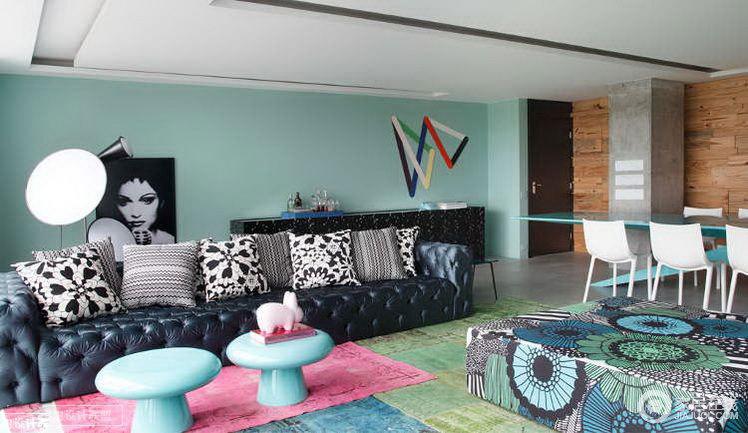 糖果色彩小屋 让人眼前一亮的简约居室