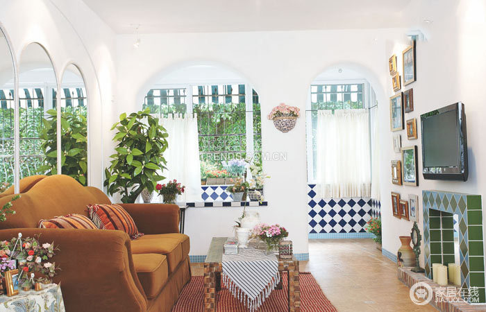 地中海三口之家 属于自己的家居装饰