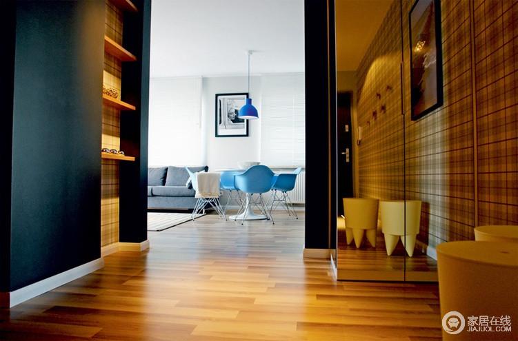 复古风条纹小公寓 整洁清新格子控的家