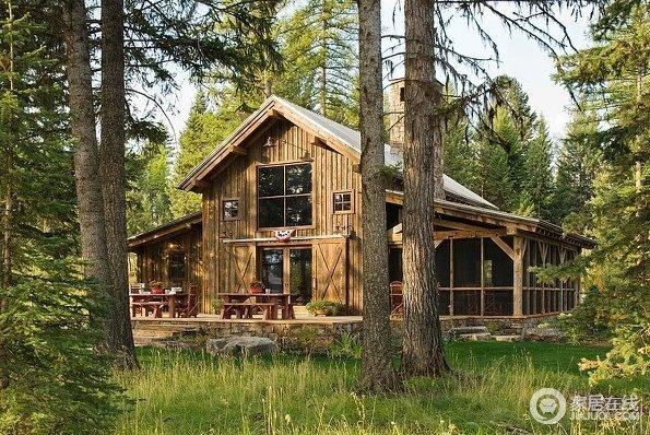 森林中的小木屋 古朴自然有情调的房子