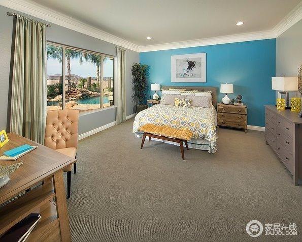 灰色调美式家居案例 漂亮的布艺装饰