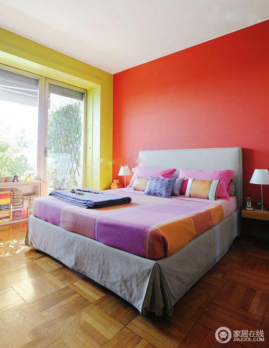 鲜艳的墙面色调 简约趣味的小户型