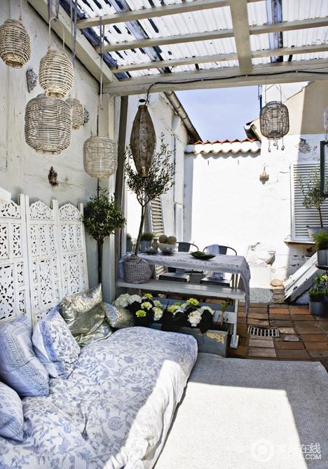 醉人的蓝色  迷人的地中海风格家居