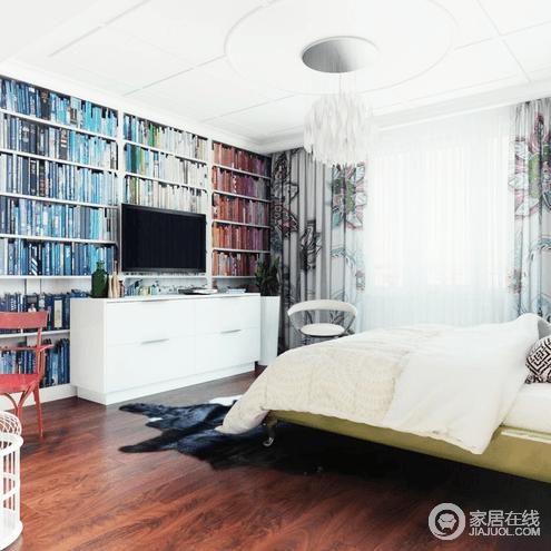 色彩鲜艳的两居室  与众不同的波普风格