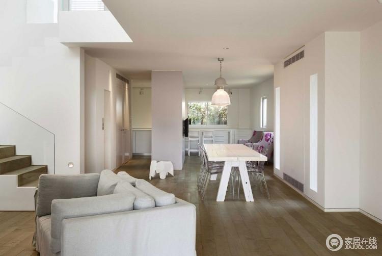 现代简约风别墅设计 白色调开敞明亮