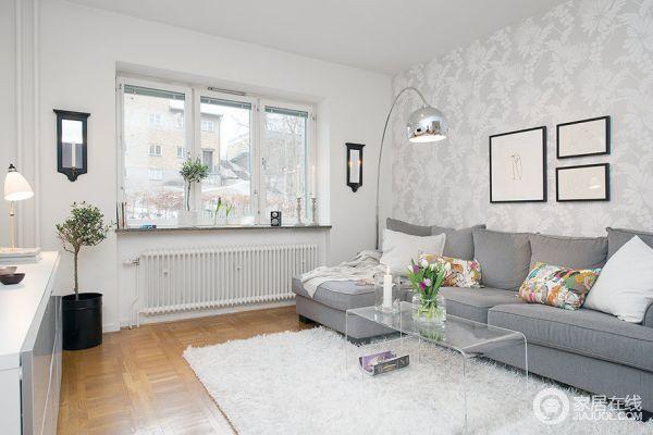 简约舒适的北欧风格家 白灰色调住宅