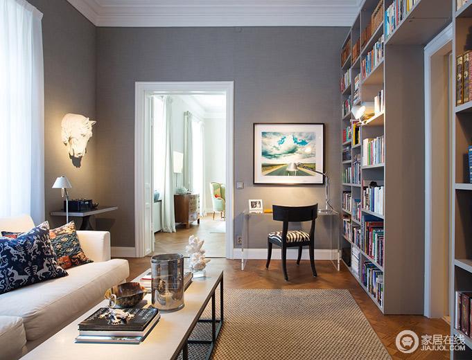 完美色彩平衡搭配 瑞典199平大公寓设计