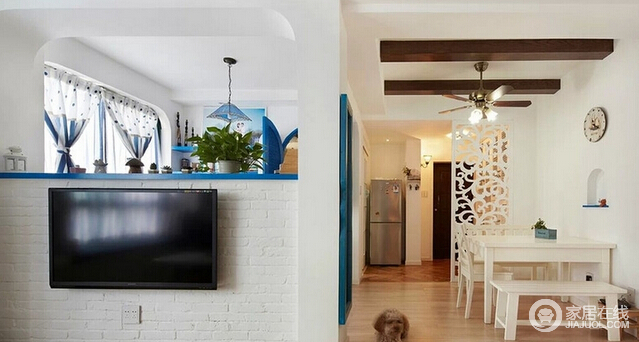 126平米地中海风格住宅 自然清新之家