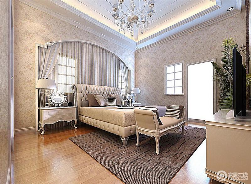 欧式风格精美的造型达到雍容华贵的效果
