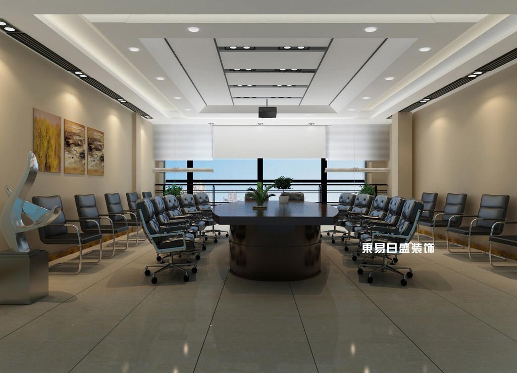 桂林工装_办公楼装修_会议室装修设计效果图