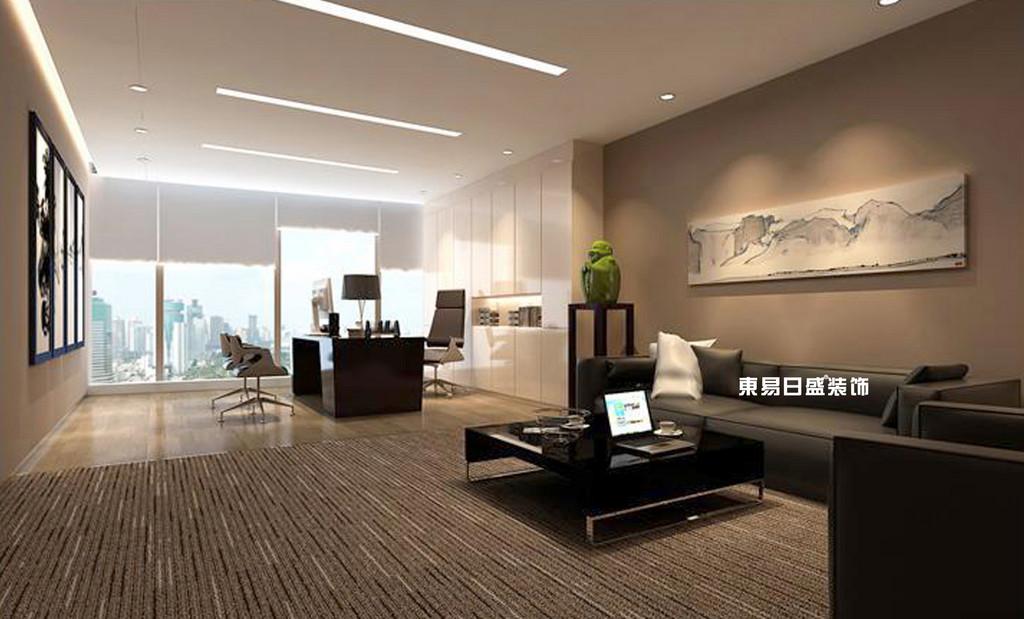 桂林工装_办公楼装修_经理办公室装修设计效果图