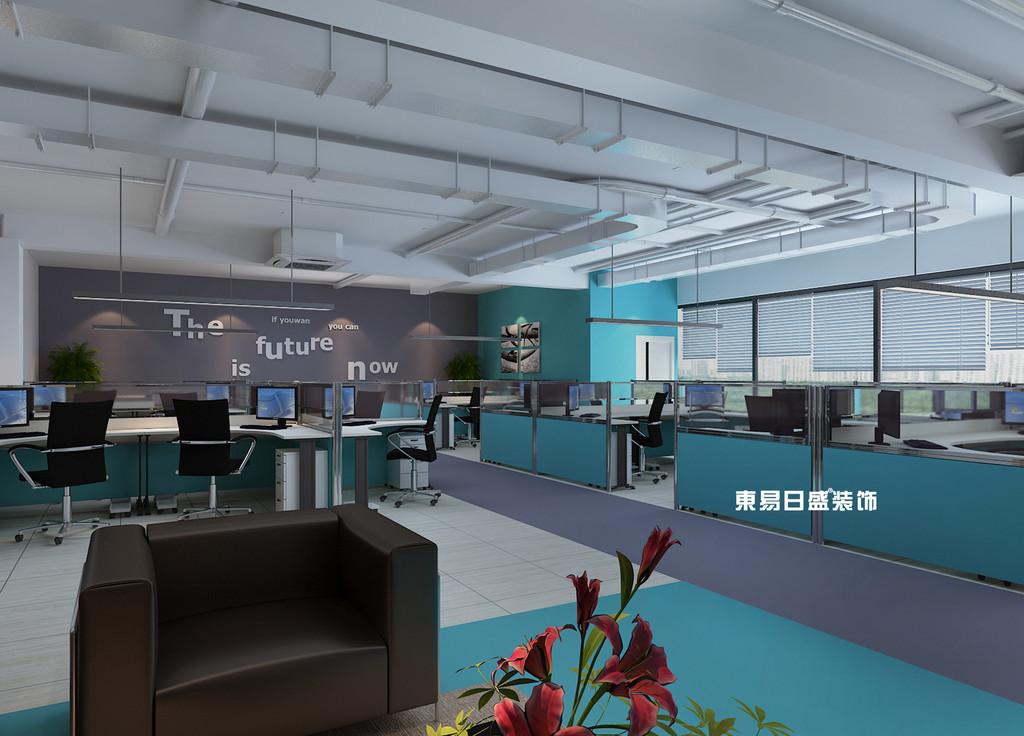 桂林工裝_辦公樓裝修_開放辦公室裝修設計效果圖