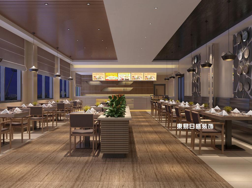 桂林工装_办公楼装修_一楼食堂包间装修设计效果图