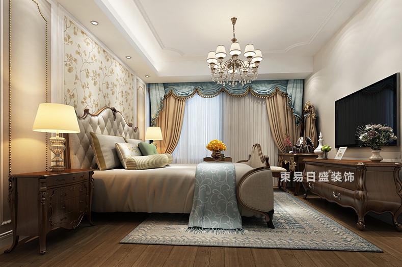 桂林彰泰•春天三居室150㎡欧式风格:主卧室装修设计效果图